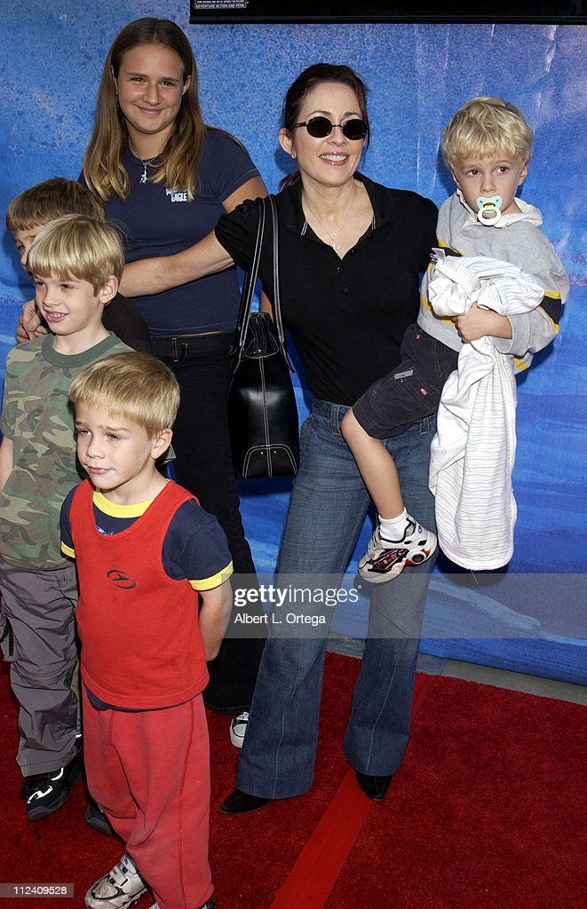 Patricia Heaton and sons during 'Treasure Planet' Premiere at The Cinerama Dome in Hollywood California United States