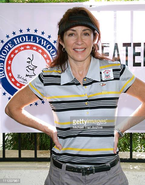 Patricia Heaton during Greater Los Angeles Area USO Celebrity Golf Tournament at Braemar Country Club in Tarzana California United States