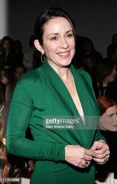 Patricia Heaton during MercedesBenz Fashion Week Fall 2007 Chaiken Front Row and Backstage at The Salon Bryant Park in New York New York United States