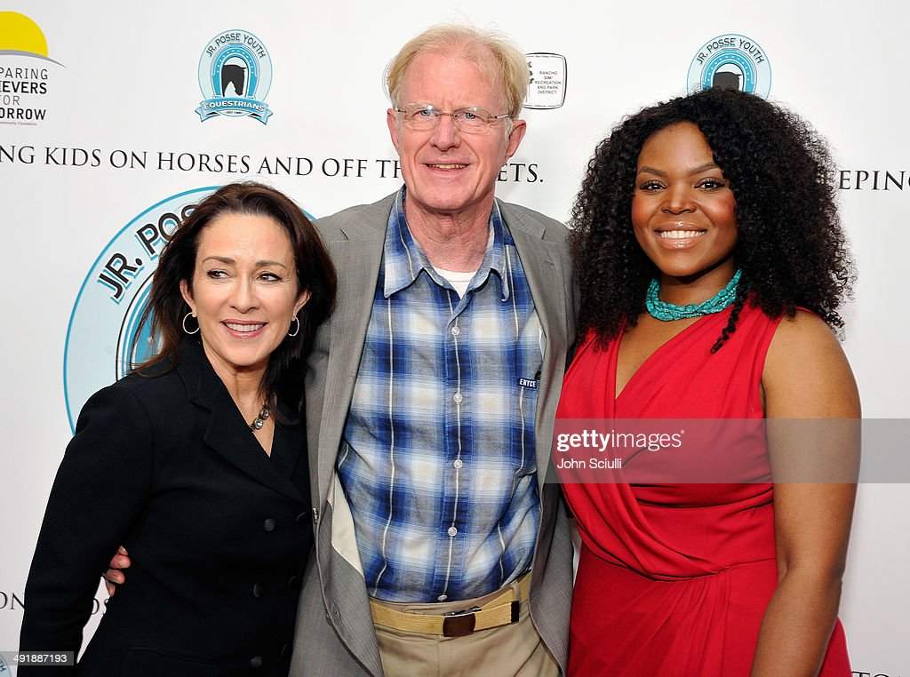 Patricia Heaton, Ed Begley Jr. and Mayor Aja Brown attend Compton Jr. Posse 7th annual fundraiser gala at The Los Angeles Equestrian Center on May 17, 2014 in Burbank, California.