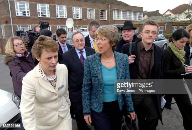 Patricia Hewitt the Secretary of State for Health visits the University Hospital of North Staffordshire Stoke Tuesday April 4 2006 accompanied by...