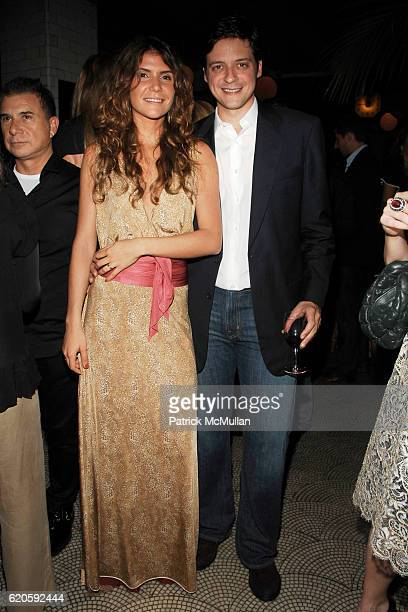 Patricia Jereissati and Pedro Jereissati attend Private Dinner hosted by CARLOS JEREISSATI CEO of IGUATEMI at Pastis on September 6 2008 in New York...