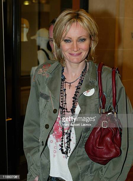 Patricia Kaas during JayZ PreConcert Party at the VIP Room in Paris at VIP Room in Paris in Paris France
