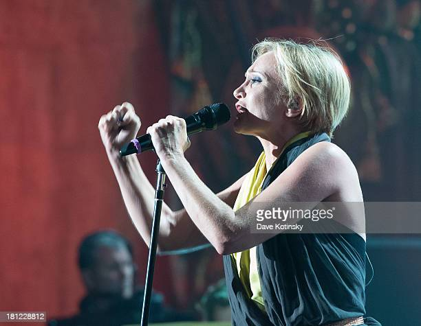 Patricia Kaas performs during Francofolies New York A Tribute To Edith Piaf at Beacon Theatre on September 19 2013 in New York City
