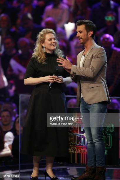 Patricia Kelly and Florian Silbereisen during the show 'Schlagercountdown Das grosse Premierenfest' at EWE Arena on March 25 2017 in Oldenburg Germany