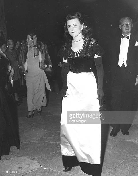 Patricia Kennedy with her father Joseph P Kennedy ca 1940s