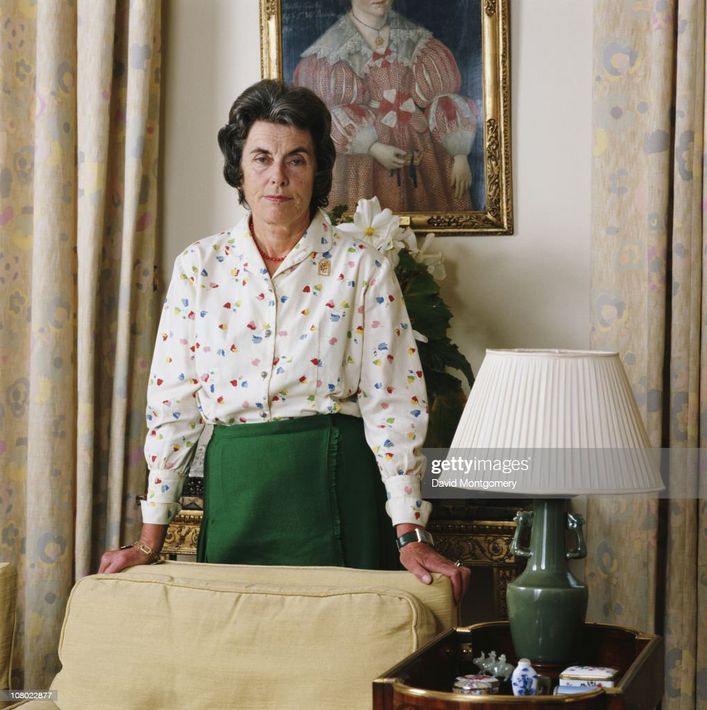 Patricia Knatchbull, 2nd Countess Mountbatten of Burma, July 1984. She is the elder daughter of Louis Mountbatten.