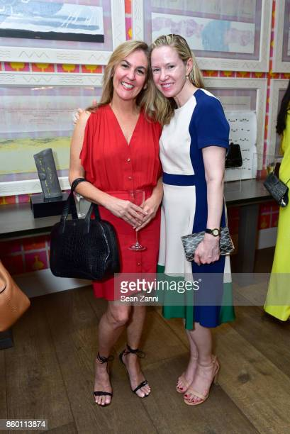 Patricia Lizarraga and Angeline Ourie attend the launch of The Collector Geneva's Sophie Bonvin Code Collection in Collaboration with artist Bill...