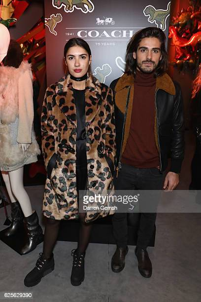 Patricia Manfield and Giotto Calendoli attend Coach House Regent Street Launch Party on November 24 2016 in London England