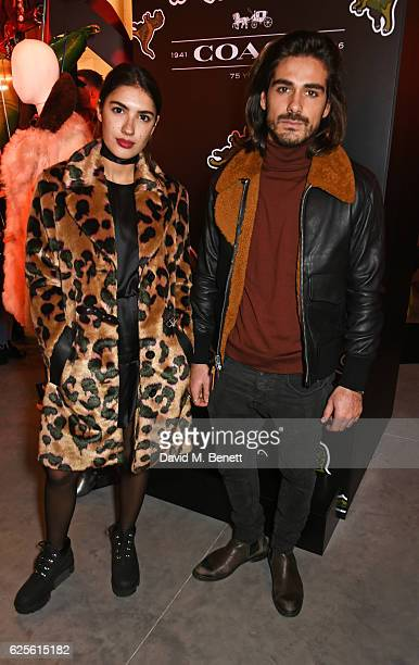 Patricia Manfield and Giotto Calendoli attend the launch of Coach House Regent Street on November 24 2016 in London England
