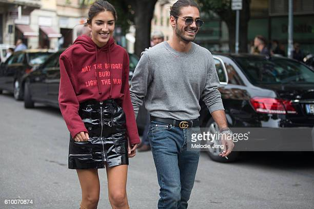 Patricia Manfield Giotto Calendoli outside the Giorgio Armani show during Milan Fashion Week Spring/Summer 2017 on September 23 2016 in Milan Italy...