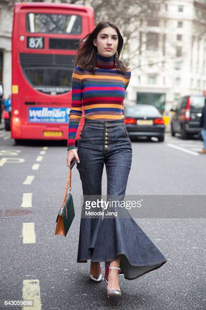 Patricia Manfield on day 3 of the London Fashion Week February 2017 collections on February 19 2017 in London England