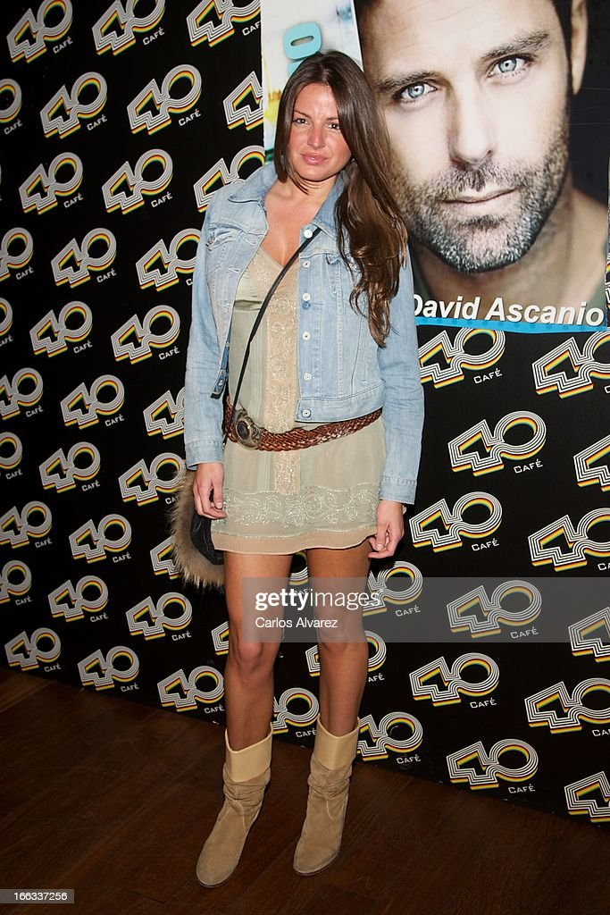 Patricia Martinez attends David Ascanio concert at the Cafe 40 Club on April 11, 2013 in Madrid, Spain.