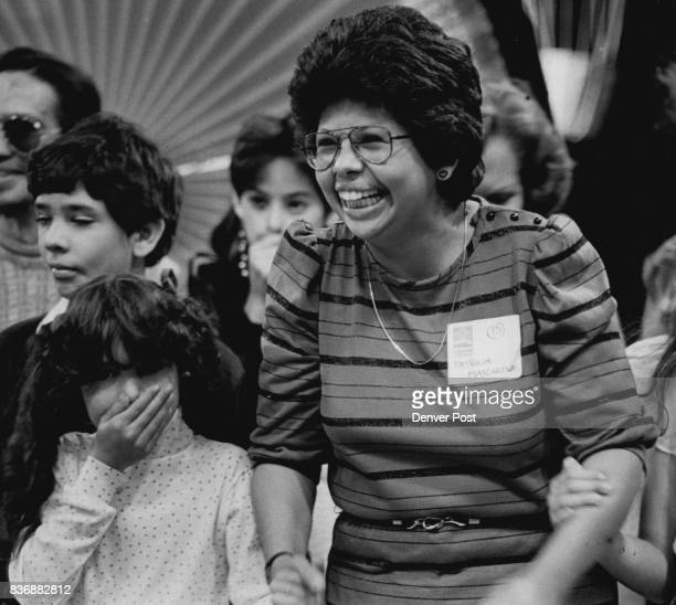 Patricia Mascardias daughter Serena looks as though she cant believe her mom won the biggie 26 Million Dollars Credit The Denver Post