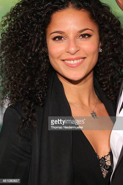 Patricia Meeden attends the green carpet arrivals for the Stuttgart Premiere of the musical 'Tarzan' at Stage Apollo Theater on November 21 2013 in...