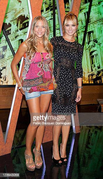 Patricia Montero and Patricia Conde pose for photographers during 'La Sexta' TV Channel New season Presentation on September 6 2011 in Madrid Spain