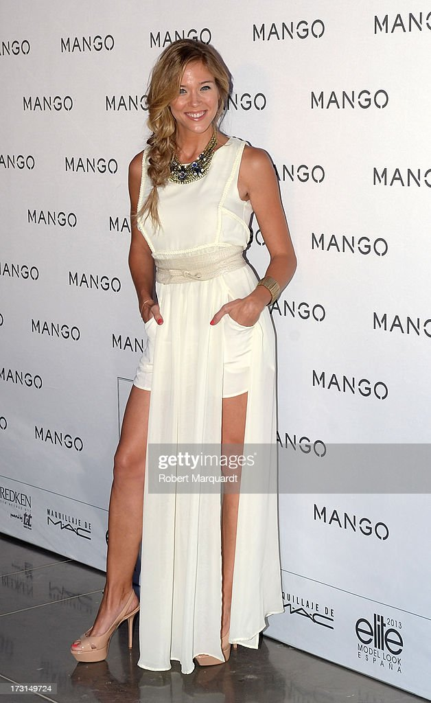 Patricia Montero attends the MANGO fashion show during the 080 Barcelona Fashion week 2014 held at the Disseny Hub Barcelona on July 8, 2013 in Barcelona, Spain.