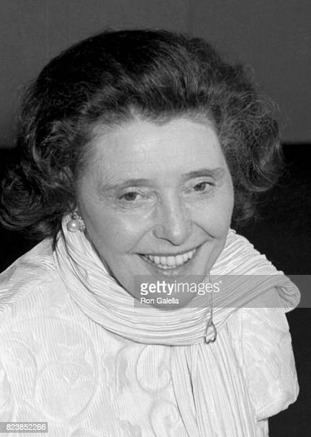 Patricia Neal attends her birthday party on January 20 1985 at the Watergate Hotel in Washington DC