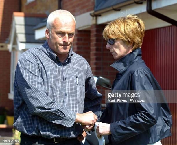 Patricia Palmer's sister Elaine Blair and her brother Kevin Wright outside the family home in Fleetwood * Patricia's 10yearold son Max Palmer drowned...