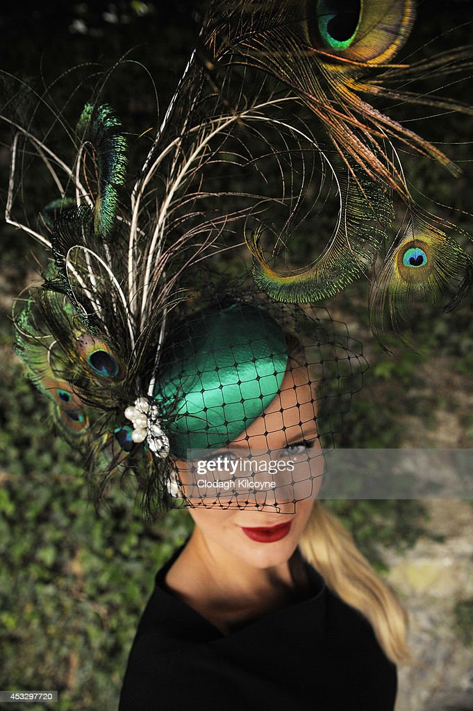 Patricia Peklar attends to compete in the Ladies Day best dressed competition at the Dublin Horse Show 2014 on August 7, 2014 in Dublin, Ireland.