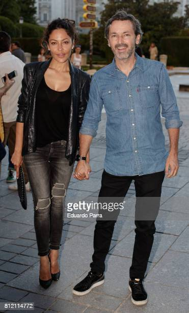 Patricia Perez and Luis Canut attend the 'Pet Shop Boys' concert at Royal Theatre on July 10 2017 in Madrid Spain