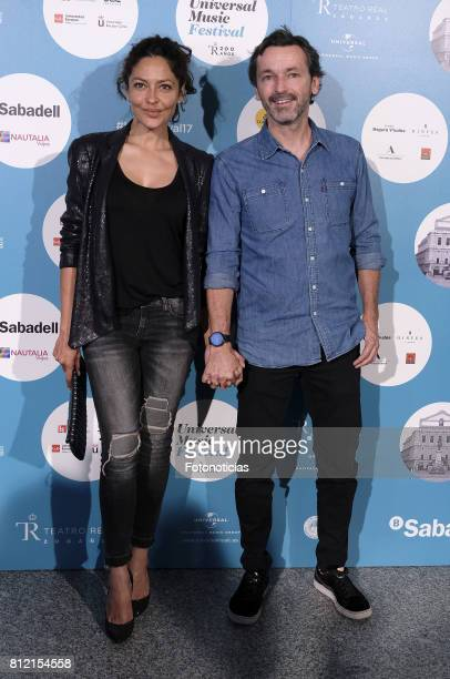 Patricia Perez and Luis Canut attend the Pet Shop Boys Universal Music Festival concert at The Royal Theater on July 10 2017 in Madrid Spain