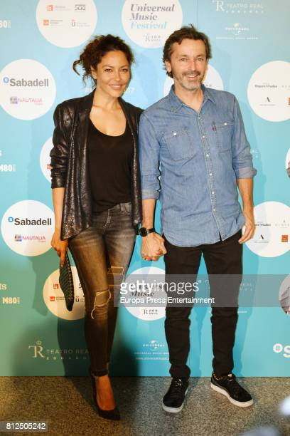 Patricia Perez and Luis Canut attend the Pet Shop Boys Universal Music Festival concert at The Royal Theatre on July 10 2017 in Madrid Spain