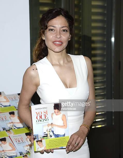 Patricia Perez presents her book 'Yo Si Que Cocino' at Herbolario Navarro on April 21 2015 in Madrid Spain