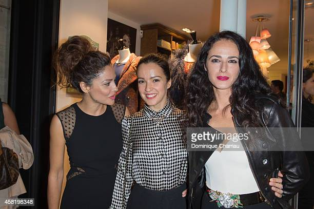 Patricia Perez Veronica Sanchez and Monica Estarreado attend the 'Dolores Promesas' Opening Store in Paris on October 31 2014 in Paris France