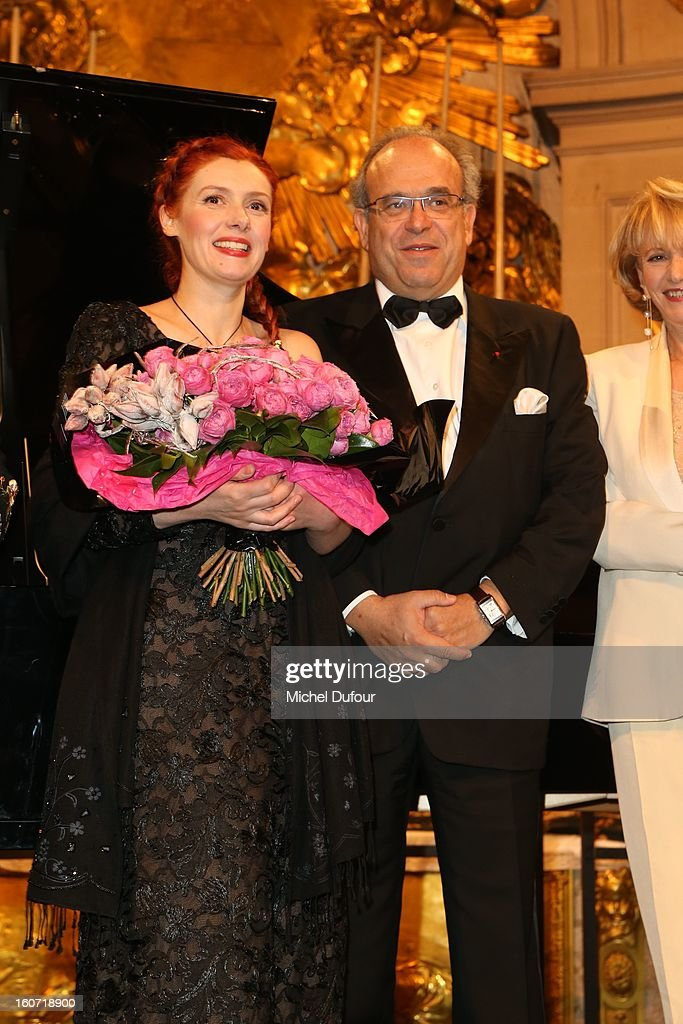 Patricia Petitbon and David Khayat attend the David Khayat Association 'AVEC' Gala Dinner at Chateau de Versailles on February 4, 2013 in Versailles, France.