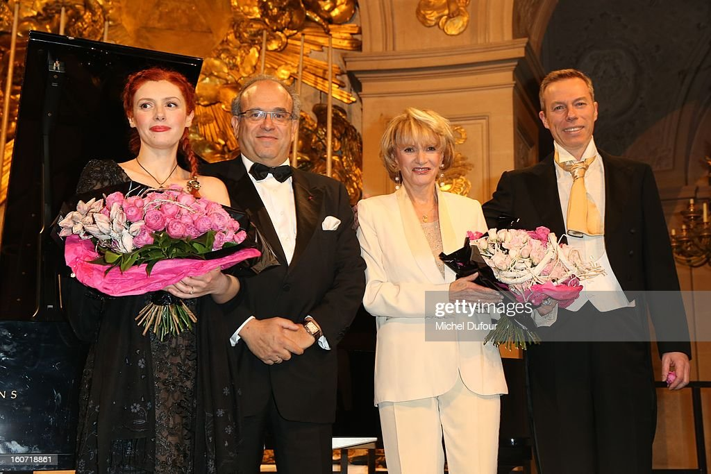 Patricia Petitbon, David Khayat and Eve Ruggieri attend the David Khayat Association 'AVEC' Gala Dinner at Chateau de Versailles on February 4, 2013 in Versailles, France.