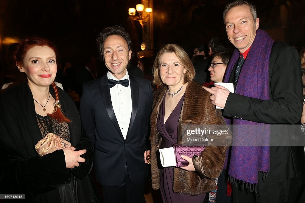 Patricia Petitbon, Stephane Bern and Catherine Pegard attend the David Khayat Association 'AVEC' Gala Dinner at Chateau de Versailles on February 4, 2013 in Versailles, France.
