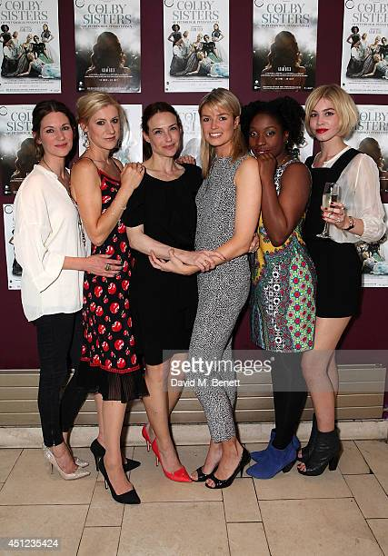 Patricia Potter Charlotte Parry Claire Forlani Isabella Calthorpe Ronke Adekoluejo and Alice Sanders attend an after party following the press night...