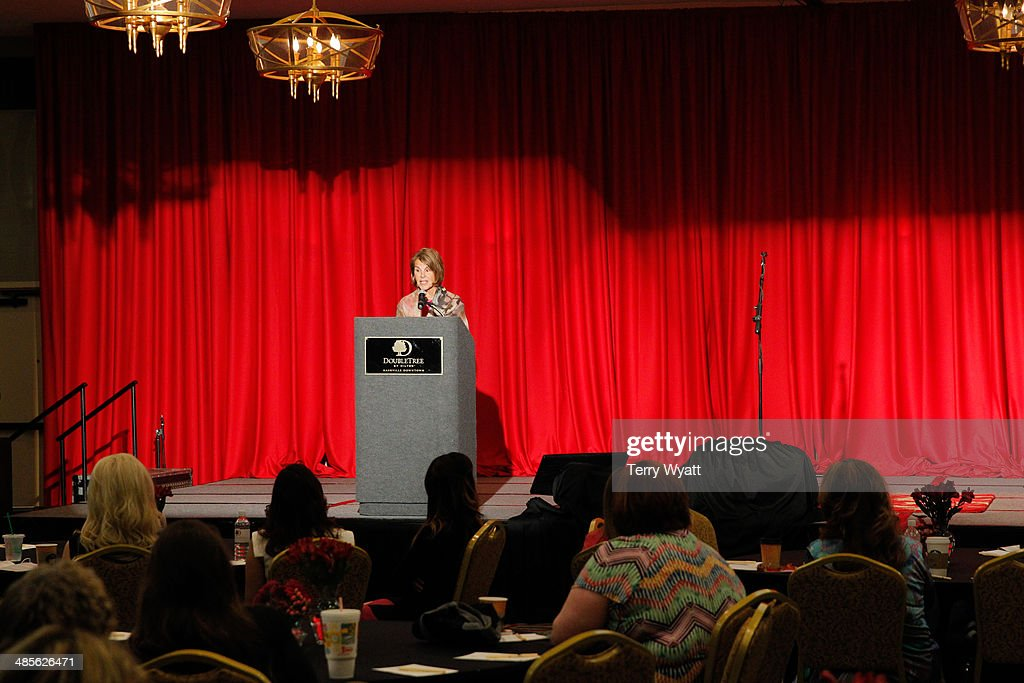 Patricia R. Miller co-founded Vera Bradley speaks at Stella Parton's Red Tent Women's Conference 2014 at the Doubletree Hotel Downtown on April 19, 2014 in Nashville, Tennessee.