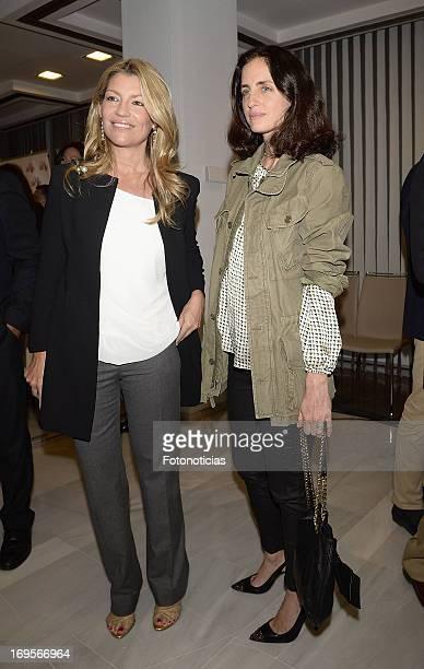 Patricia Rato and Carolina Adriana Herrera attend the launch of 'Enrique Ponce Un Torero Para La Historia' at the Club Siglo XXI on May 27 2013 in...