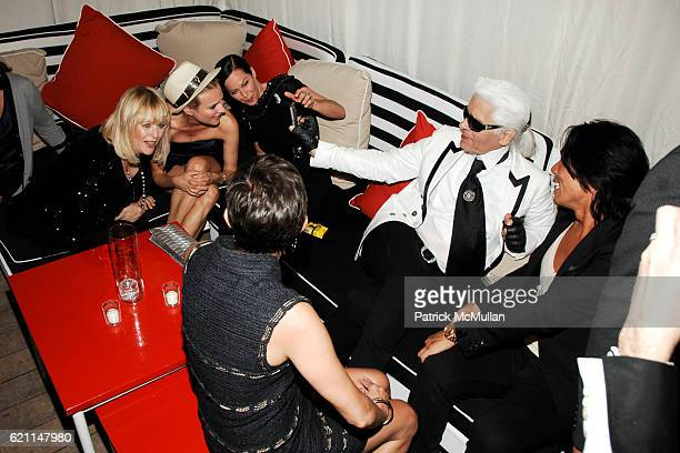 Patricia Riekel Diane Kruger Lady Amanda Harlech Maureen Chiquet Karl Lagerfeld and Stephen Gan attend CHANEL 2008 Cruise Collection Afterparty at...