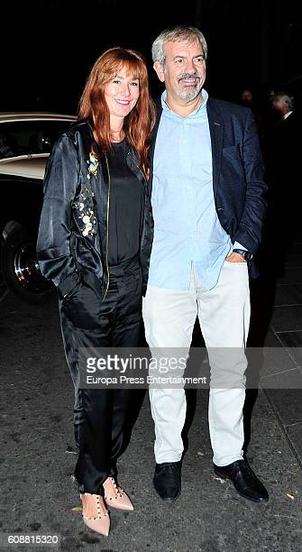 Patricia Santamaria and Carlos Sobera attend the dinner for 'Soy Uno Entre Cien Mil' directed by Penelope Cruz at Ten Con Ten restaurant on September...