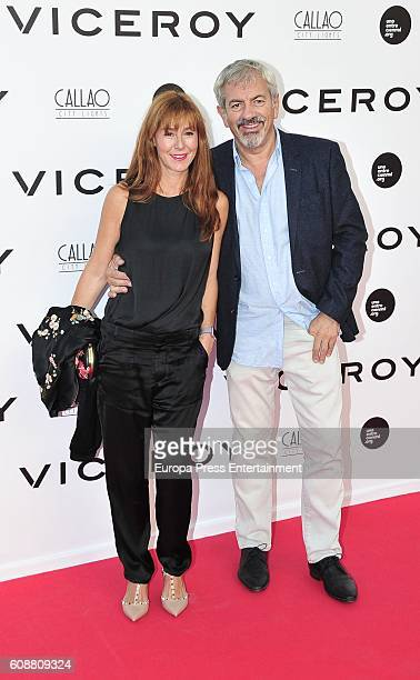 Patricia Santamaria and Carlos Sobera attend the premiere of 'Soy Uno Entre Cien Mil' directed by Penelope Cruz at Callao cinema on September 19 2016...