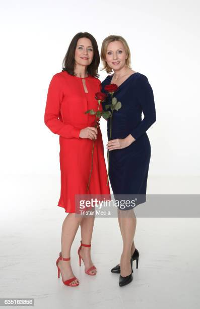 Patricia Schaefer and Dana Golombek during the photocall for the TV show 'Rote Rosen' on February 13 2017 in Hamburg Germany