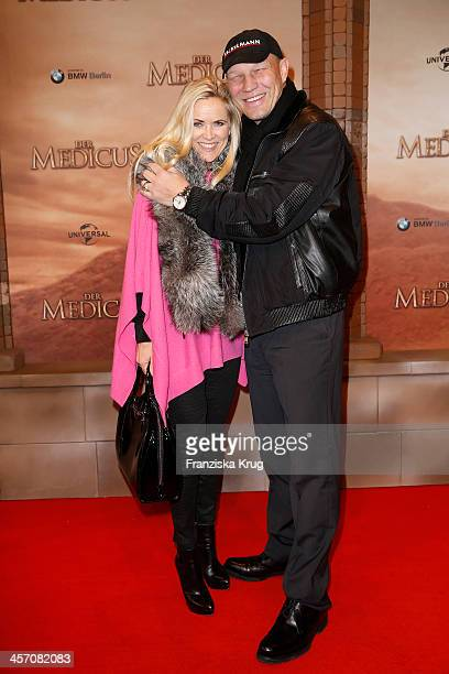 Patricia Schulz and Axel Schulz attends 'The Physician' German Premiere on December 16 2013 in Berlin Germany