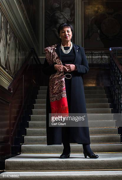 Patricia Scotland Baroness Scotland of Asthal poses for a photograph in Marlborough House on March 10 2016 in London England Patricia Scotland QC is...