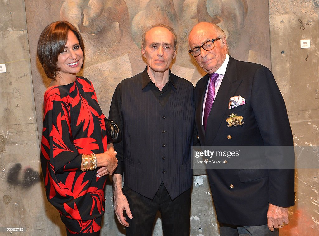 Patricia Shaheen, Roman Kriheli, and Bob Shaheen attend the Roman Kriheli Un:veiled Exhibit At Avant Gallery, Featuring The Unveiling Of 'The Most Beautiful Woman In The World' Painting at Epic Hotel on December 3, 2013 in Miami, Florida.