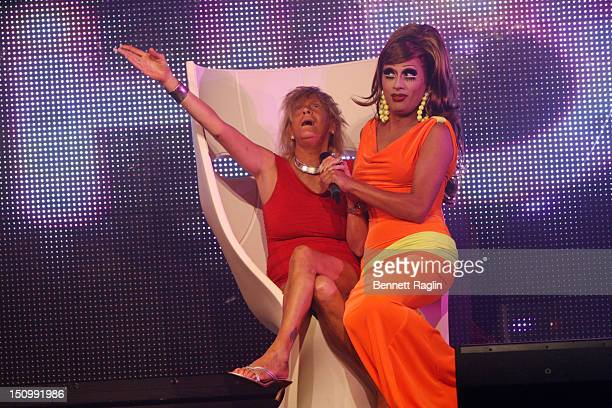 Patricia 'Tan Mom' Krentcil and Bianca del Rio visit XL Cabaret on August 29 2012 in New York City