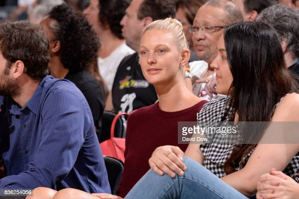 Patricia Van Der Vliet attends the game between the Minnesota Lynx and the New York Liberty on August 20 2017 at the Madison Square Garden in New...