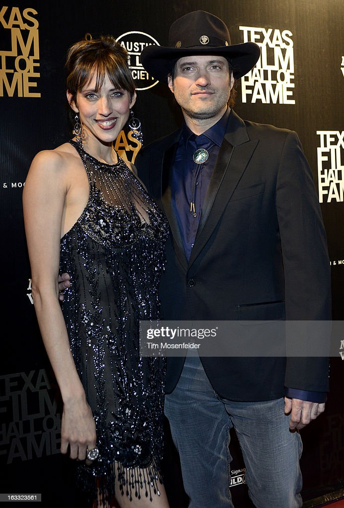 Patricia Vonne (L) and Robert Rodriguez pose at the Texas Film Hall of Fame Awards at Austin Studios on March 7, 2013 in Austin, Texas.