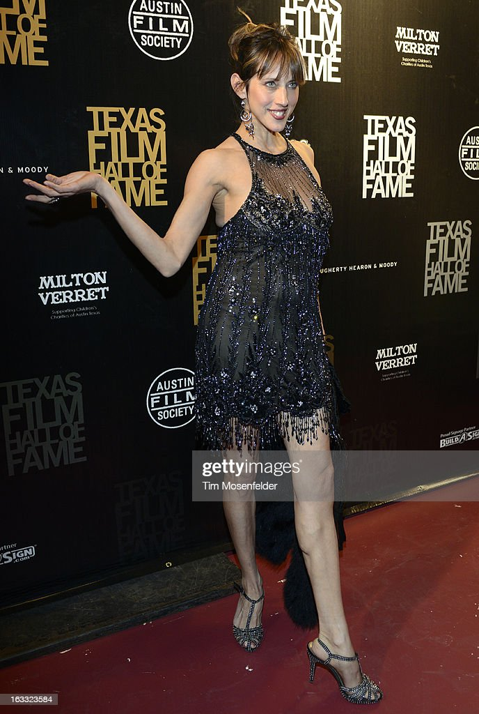 Patricia Vonne poses at the Texas Film Hall of Fame Awards at Austin Studios on March 7, 2013 in Austin, Texas.
