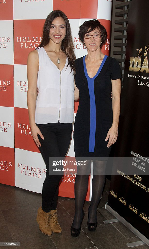 Patricia Yurena (L) and Lola Gonzalez attend 'iDance' opening photocall at Holmes Palace on March 21, 2014 in Madrid, Spain.