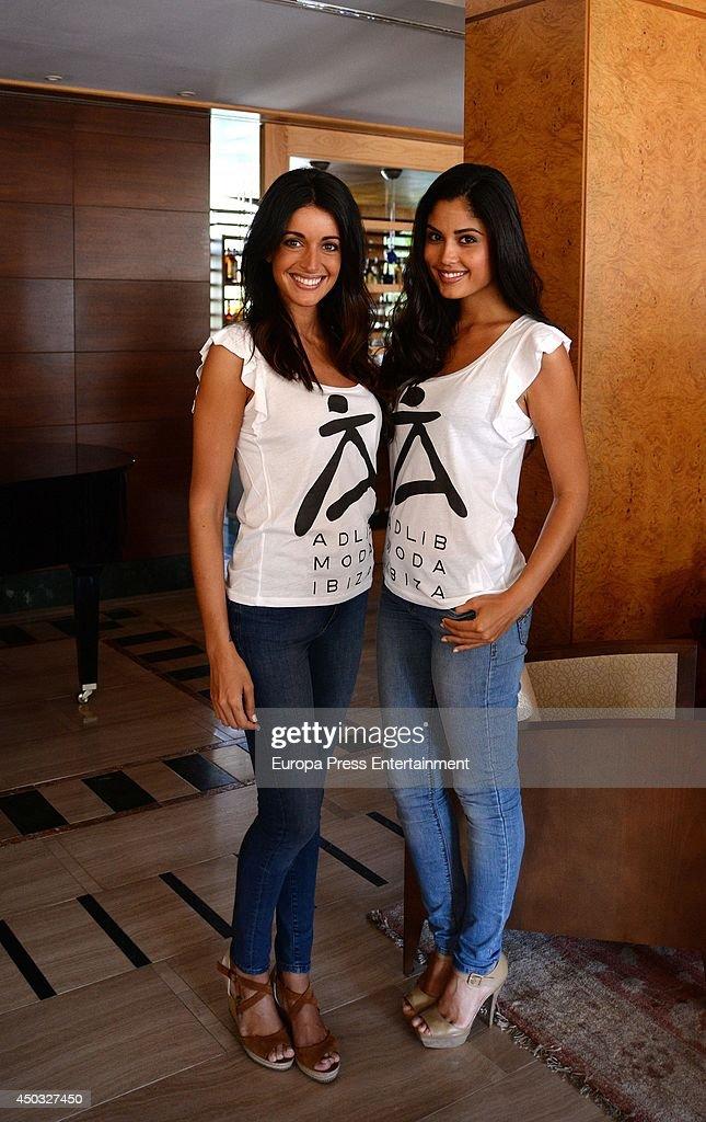 Patricia Yurena and Noelia Lopez attend Adlib Fashion Show on June 8 2014 in Ibiza Spain