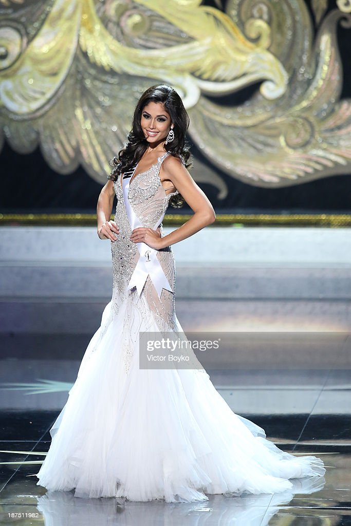 Patricia Yurena Rodriguez of Spain walks the stage during the Miss Universe Pageant Competition 2013 on November 9, 2013 in Moscow, Russia.