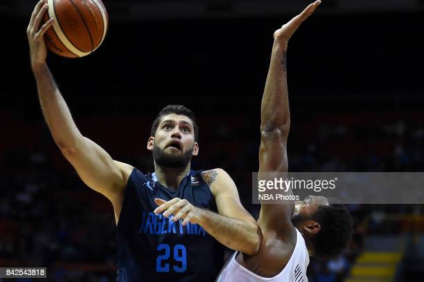Patricio Garino of Argentina in action during the FIBA Americup final match between US and Argentina at Orfeo Superdomo arena on September 03 2017 in...